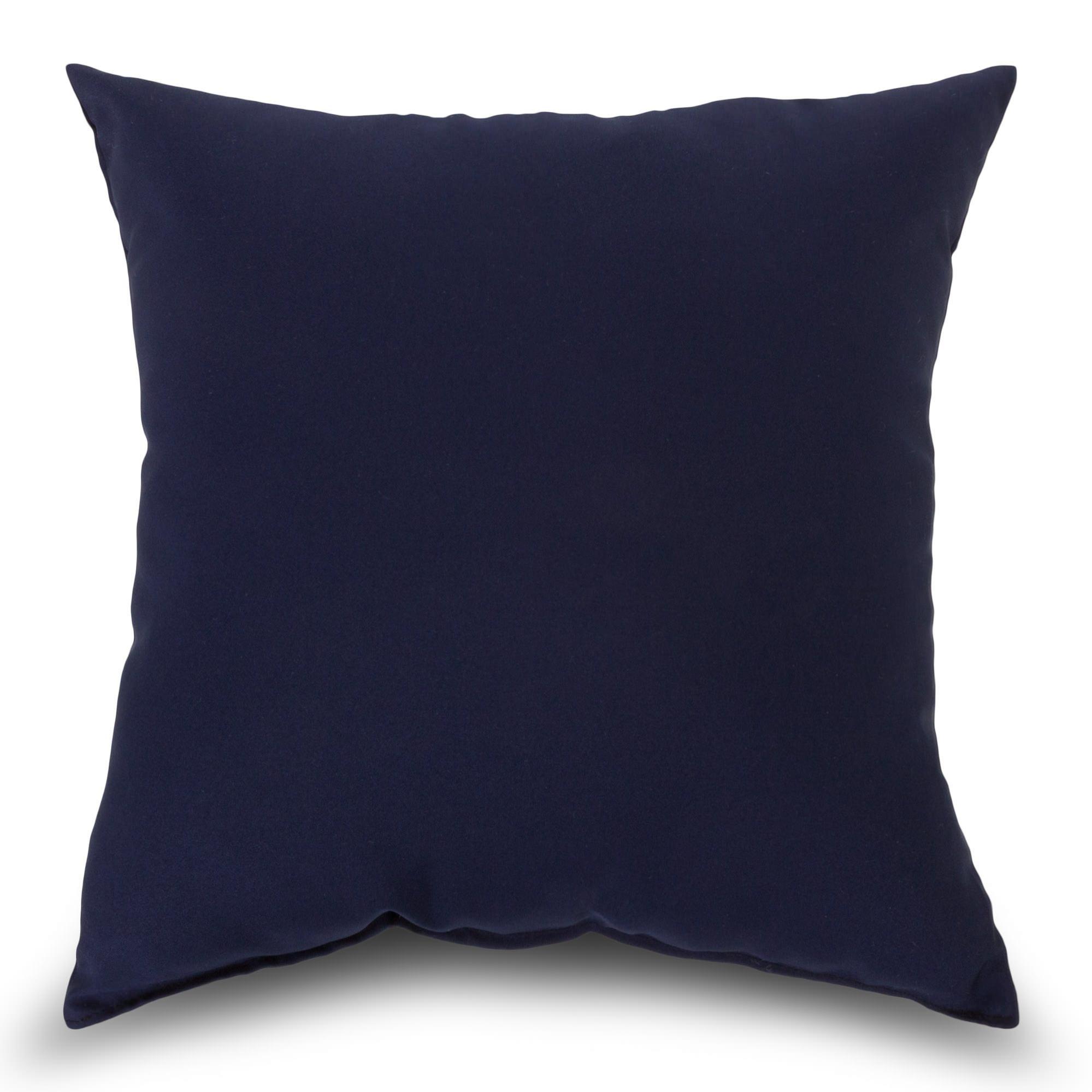 Navy Outdoor Throw Pillow