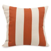 Shop Burnt Orange Vertical Stripe Large Outdoor Pillow ...