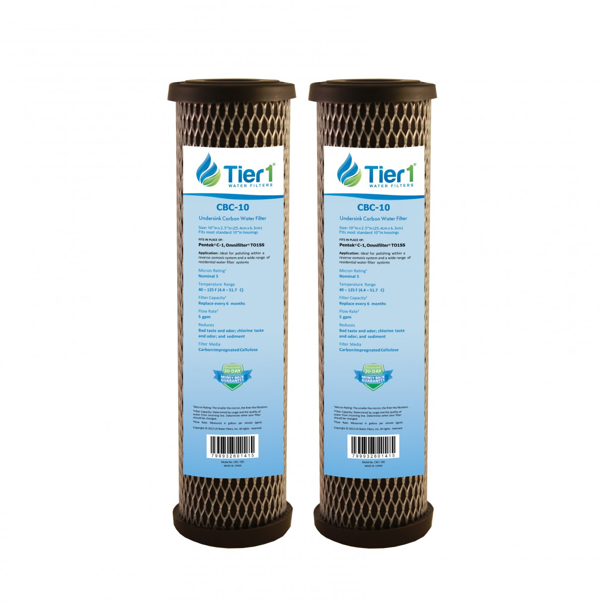 Carbon Water Filter System Pentek C1 Comparable Carbon Block Water Filter By Tier1 2 Pack