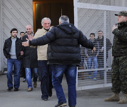 political prisoners released rustavi  2013-01-13