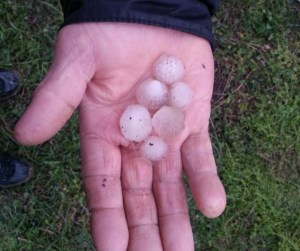 hail stones in eastern Georgia 2013-04-10