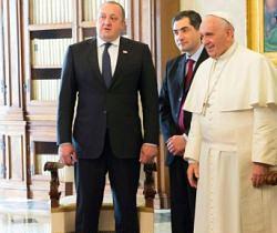 Giorgi Margvelashvili and Pope Francis
