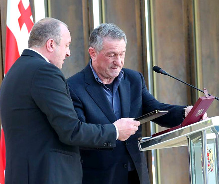 giorgi_margvelashvili_order_of_queen_tamar_irine_enukidze_guram_girgvliani