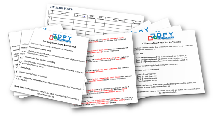 Free Marketing Template Package DFYTemplates