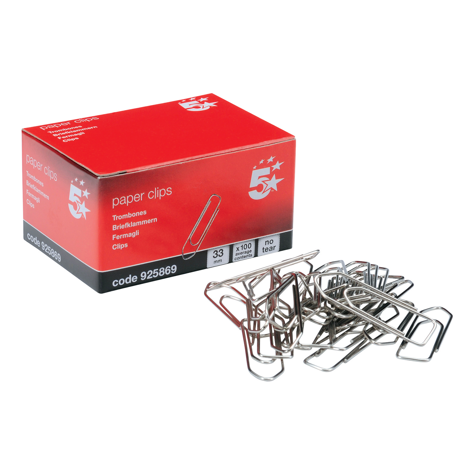 5 Star Office Giant Paperclips Metal Extra Large Length