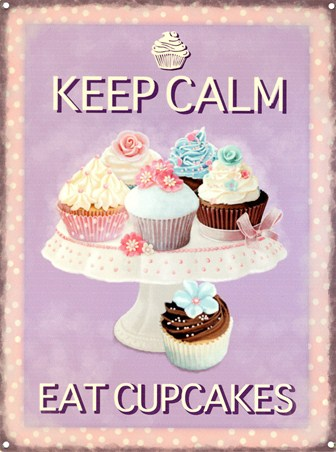 Wooden Quotes Wallpaper Keep Calm Eat Cupcakes Tasty Treats Tin Sign Buy Online