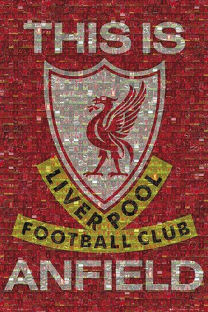 Black And Mustard Wallpaper This Is Anfield Liverpool Fc Photomosaic Poster Buy Online