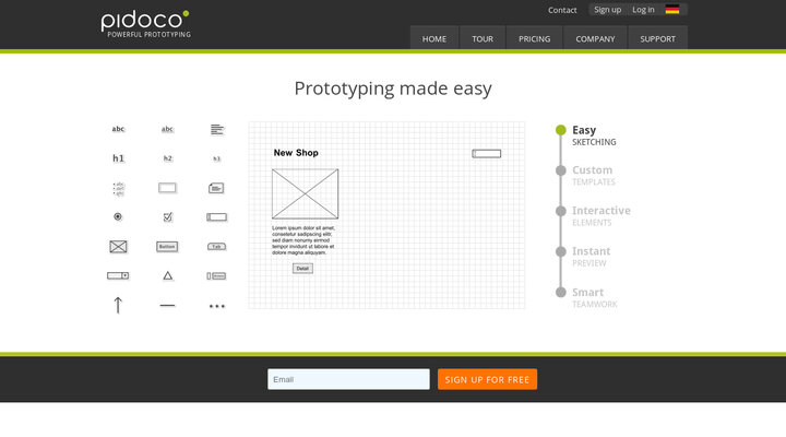 Pidoco - Online Wireframe and UX Prototyping Tool Hypershoot