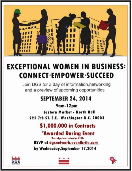 Exceptional Women in Business Outreach Event Flyer 8-24-14 dgs - networking flyers