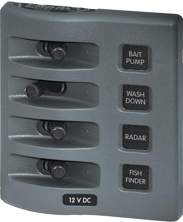 WeatherDeck® 12V DC Waterproof Switch Panel - 4 Position - Blue Sea