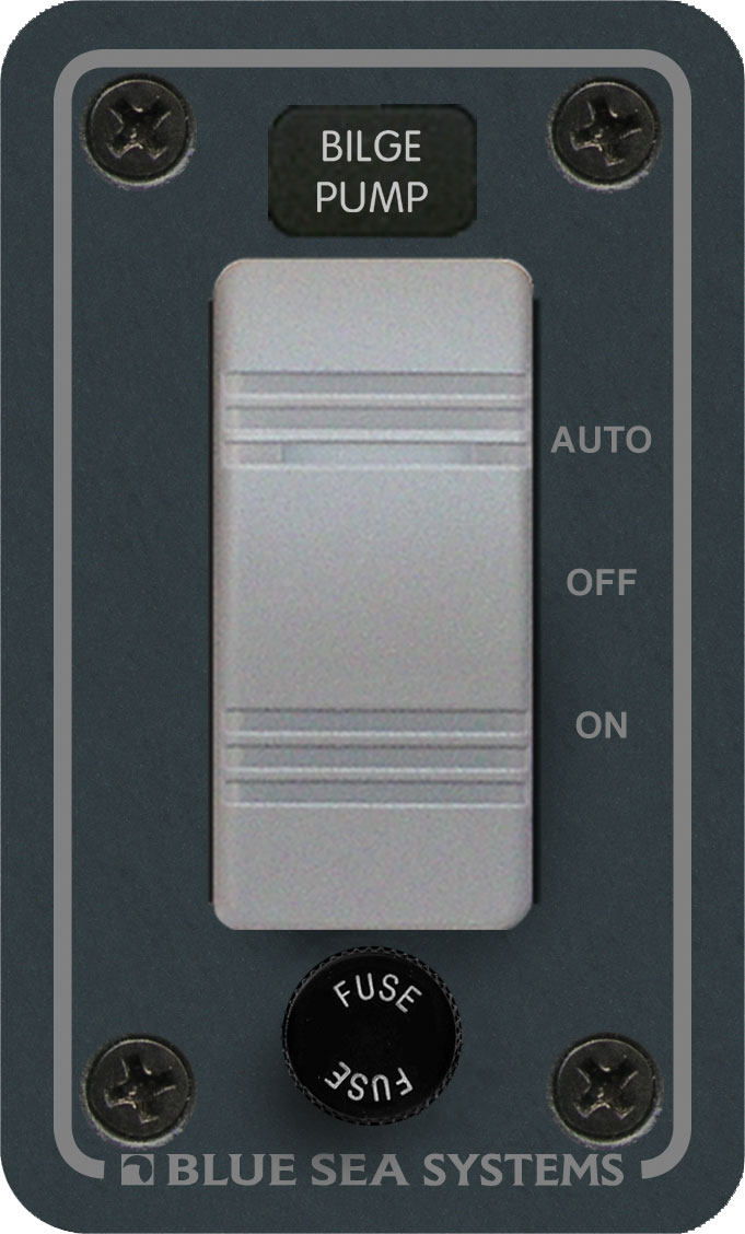 Contura Water Resistant 12V DC Panel - Bilge Pump Control - Blue Sea