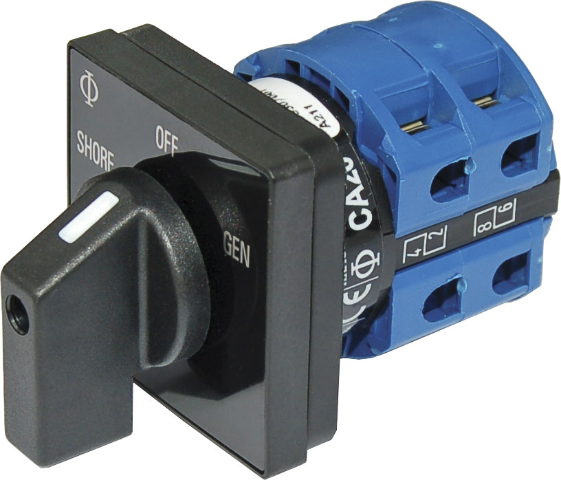 AC Rotary Switch - OFF + 2 Positions 120V AC 30A - Blue Sea Systems