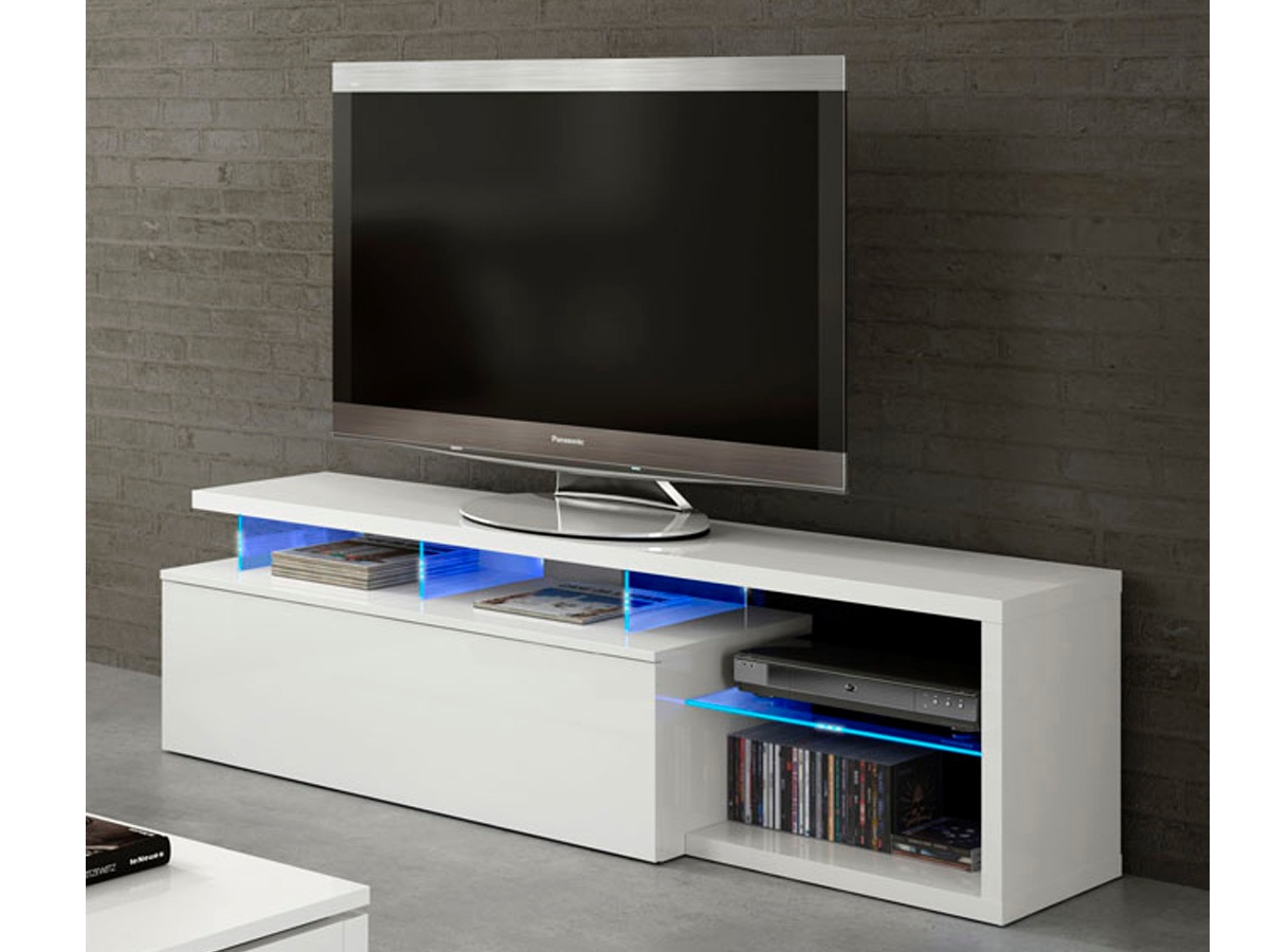 Mueble Television Blanco Mesa Tv Color Blanco