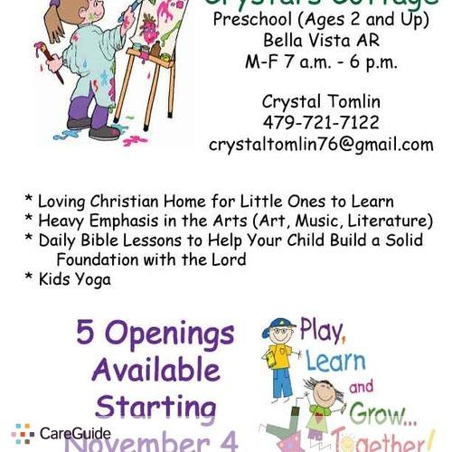 Crystal\u0027s Cottage - Home Preschool in Bella Vista, AR Now Has
