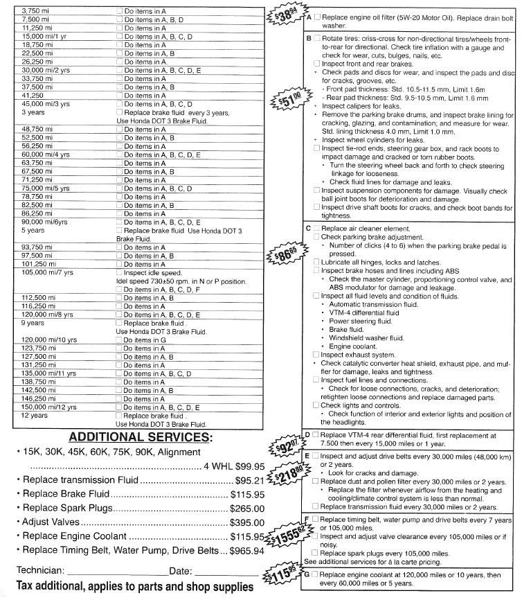volvo maintenance schedule