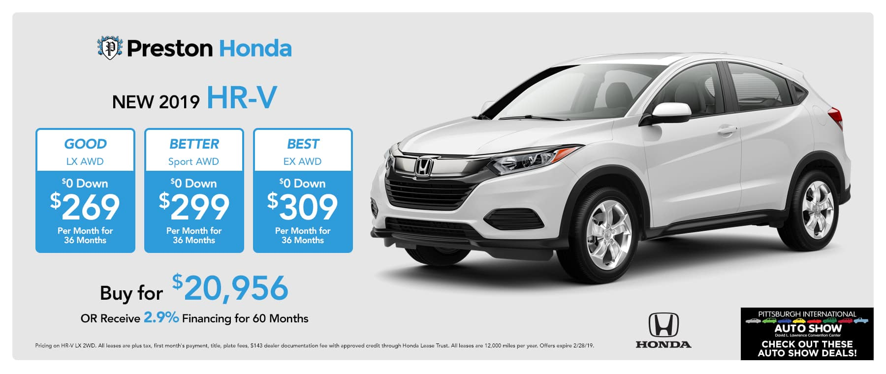 New And Used Cars Preston Honda In New Castle Pa New Used Cars