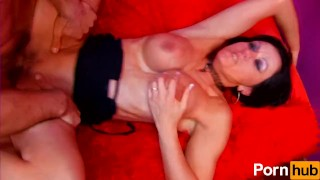 Hot french raven makes her Spanish cock cum twice with anal