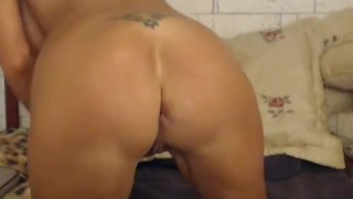 Big Tits Blonde Double Dildo Masturbation