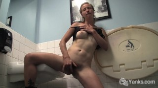 Blonde Aden Rose Fingers Her Hairy Pussy