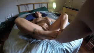 Got fisted by roomate's boyfriend when he caught me masturbating on her bed