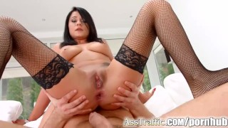 Santa style Romanian beuaty Aida gets in the ass on Asstraffic