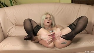 Ashley Love [gaping, pussy stretching, high heels, pantyhose]