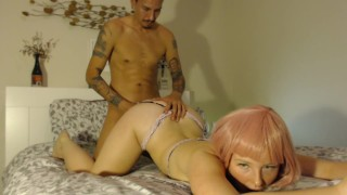 pawg cutie rides dick for a cream pie