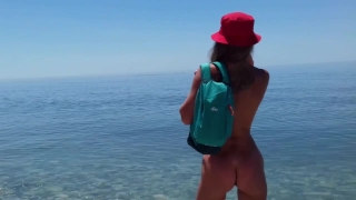 Tourist sex adventure by Sasha Bikeyeva: Masturbation, Pissing, Blowjob