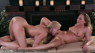 Stepmom Brandi Love Exchanges Pussy Licks with Naughty Daughter