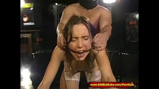 Pee And Cum for Dirty Young Slut In Chains - 666Bukkake