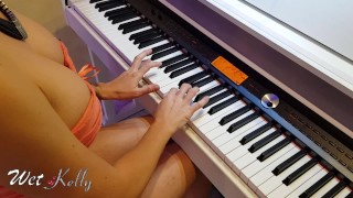 Failing piano my teacher taught me how to use his flute and creampie me