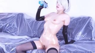 Nier Automata - 2B Solo Masturbate - Game Hentai Porno Cosplay