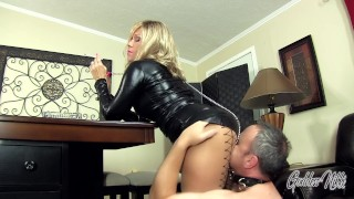 My Hot Ass - Goddess Nikki Smokes While Her House slave Worships Her Ass