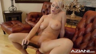 London River Takes huge 10 inch black dildo