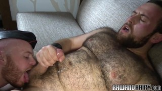 Chubby bearded bear gets anally fucked