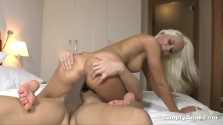 Anal Sex - Dido Angel takes a messy anal creampie after sucking and fucking