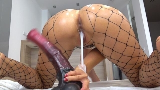 Tiny Teen pounded with massive horse cock - creampie - Solo CarryLight