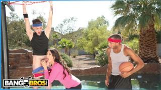 BANGBROS - Juan El Caballo Loco Tag Teams His Stepmom Makayla Coxxx