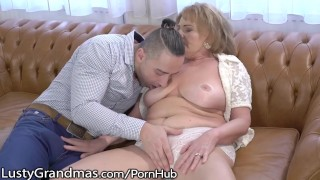 Mature Gets her Titties Sucked and Young Dick Injected!