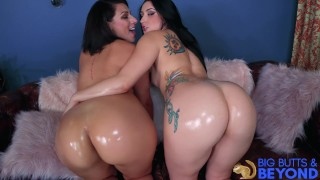 Bubble Butts Valentina Jewels & Mandy Muse in Big Butts & Beyond -Laz Fyre