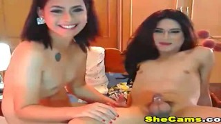Sexy Hot shemale couple Good Moaning Show