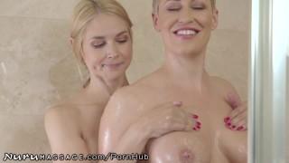 Sarah Vandella's First Lesbian Massage With Busty Ryan Keely