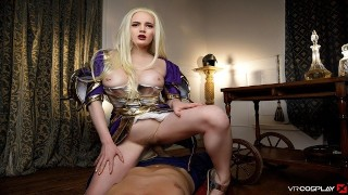VRCosplayX.com XXX Cosplay BLONDE BABES Compilation In POV Virtual Reality