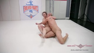 Busty Redhead Bella Rossi wants revenge on the wrestling mat