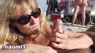 Naomi et Nico sur la plage du cap d'agde