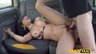 Fake Taxi Sexy Mexican get cum on her glasses