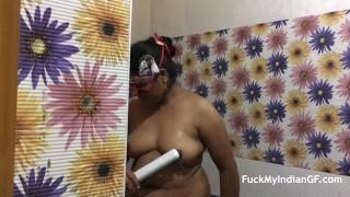 Unfaithful Indian Bhabhi Have Sex With Husband Friend Taking Shower