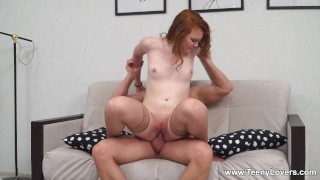 Teeny Lovers - Ami Calienta - Fuck and cum for teen redhead