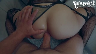 Young Amateur Babe Gets Her Ass Fucked After Passionate Sex - NoFaceGirl
