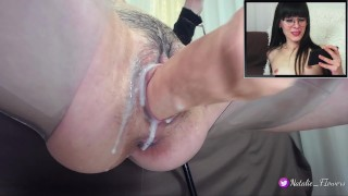 Sex machine Fucking My Creamy Pussy,When I Watching Porn